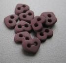 Heart - Button 6  x 7 mm