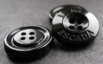 Knopf - Schwarz 18 mm