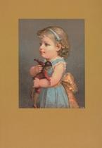 Meisje met Mulattenpopje 15 x 10,5 cm