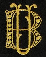 Monogram B.U. 4 x 3 cm