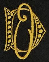 Monogram D.O. 4 x 3 cm