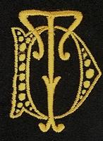 Monogram D.T. 4 x 3 cm