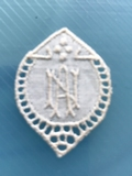 1 Monogram  A.N.of N.A.. 3 x 2,5 cm