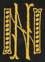 Monogram N.N. 4 x 3 cm