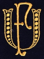 Monogram U.F. 4 x 3 cm
