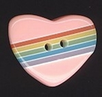 Heart lihtrosa 14 x 17 mm
