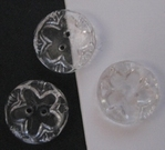 Button - transparent 11 mm
