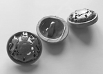 Grey-Button 21,5 mm