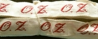 1 Initiaal - Lint O.Z. Lint 1 cm breed
