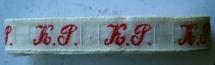 Initiaal - Lint K.P. Lint 1 cm breed