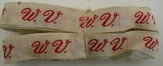 1 initiaal - Lint W.V. Lint 1 cm breed