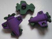 Vliegtuigje - paars 20 mm