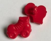 Rolschaats - rood 13 x 15 mm