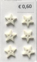 6 sterretjes - pastelgeel 8 mm