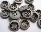 Grey-Button 14 mm