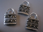 Tibetan Silver Key-Lock Toggle Clasps 22 x 14 mm