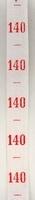 Maatlint - rood maat 140