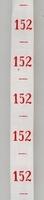 Maatlint - rood maat 152