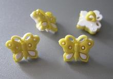 Vlinder - geel 12 x 15 mm