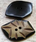 Knoop - Hoorn 39 x 33x 5 mm