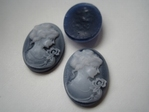 Resin Cameos 24 x 18 mm