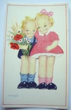Samen met bloemen 14 x 9 cm