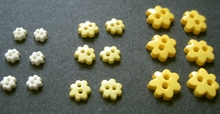 6 Blumknöpfe 6 mm