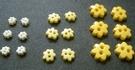 6 Flowerbuttons 9 mm