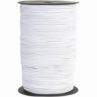 Elastiek - wit (4mtr) 1 mm