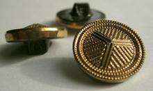 Glasknoop - goudkleur 18 mm