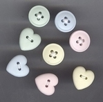 Treaded Buttons Pastel 14 mm