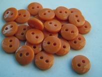 Poppenknoopje - oranje 7,5 mm