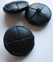 L-Knopf - Schwarz 38 mm