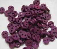 6 miniknoopjes - paars 4 mm