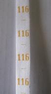 Maatlint - geel Maat 116
