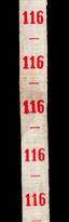 Maatlint - Rood Maat 116
