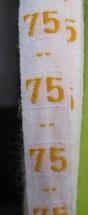 Maatlint - geel maat 75