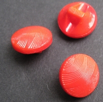 Glasknoop - rood 11 mm