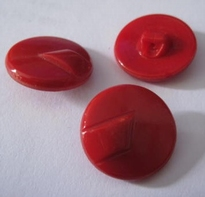 Glasknoop - rood 18 mm