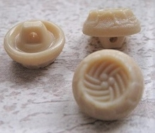 Button- Beige 14 mm