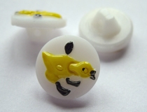 Button - white 13 mm