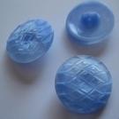 Glasknoop - blauw 14 mm