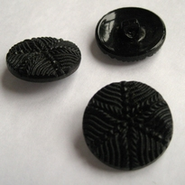 Button - black - brown 12 mm