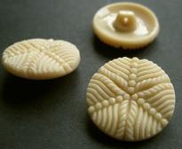 Glasknoop - beige 22 mm