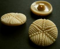Glasknoop - beige 18 mm