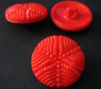 Glasknoop - rood 22 mm