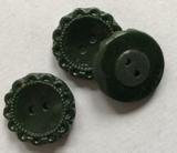 Glasknoop - donkergroen 19 mm