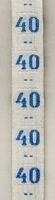 Maatlint - blauw maat 40