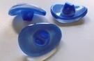 Glasknoop - blauw 18 x 13 mm