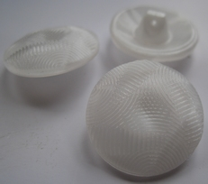 Glasknoop - wit 23 mm